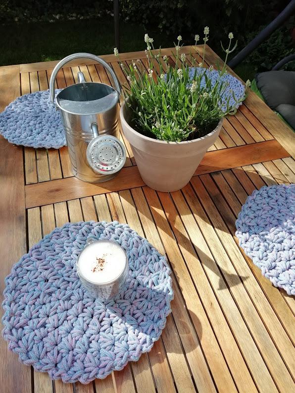 Podkładki okrągłe z bawełnianego sznurka