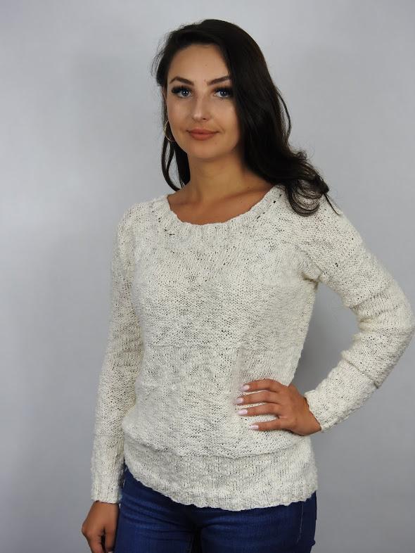 sweter z włóczki bawełnianej flambe