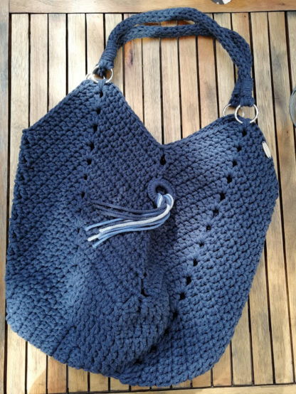 torba ze sznurka handmade