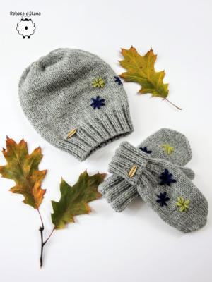 Komplet czapka i rękawiczki FLORES