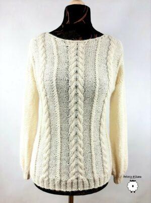 Sweter wełniany ADELINA ecru