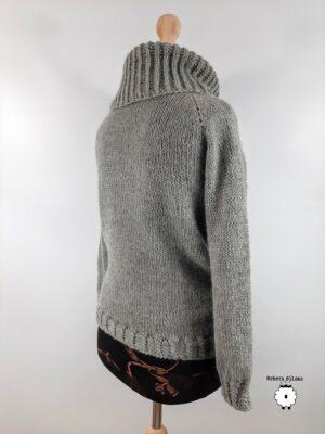 Sweter reglanowy z golfem MAXIMO