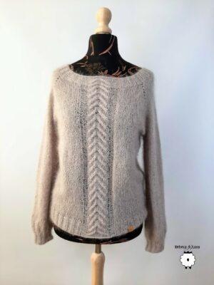 Sweter reglanowy PORANNA ROSA