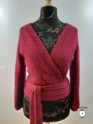 Kardigan z kimonowym wiązaniem