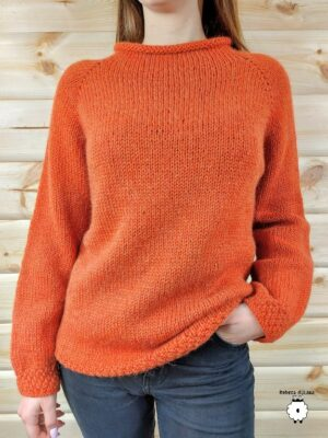 Klasyczny sweter reglanowy GRACIA