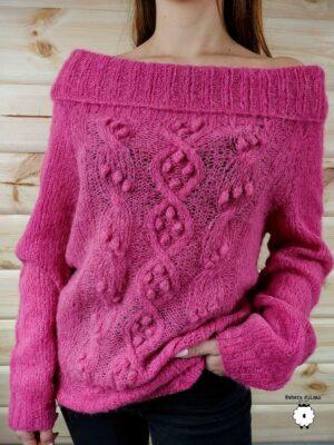 Sweter z opadającymi ramionami DULCE