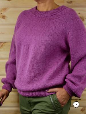 Sweter z okrągłym karczkiem ANTONELLA