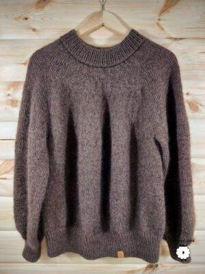 Sweter z okrągłym karczkiem ANTONELLA w wersji z moherem