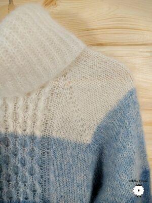 Sweter reglanowy z golfem MARIBEL