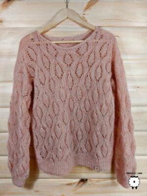 Sweter z ażurowym splotem CONO
