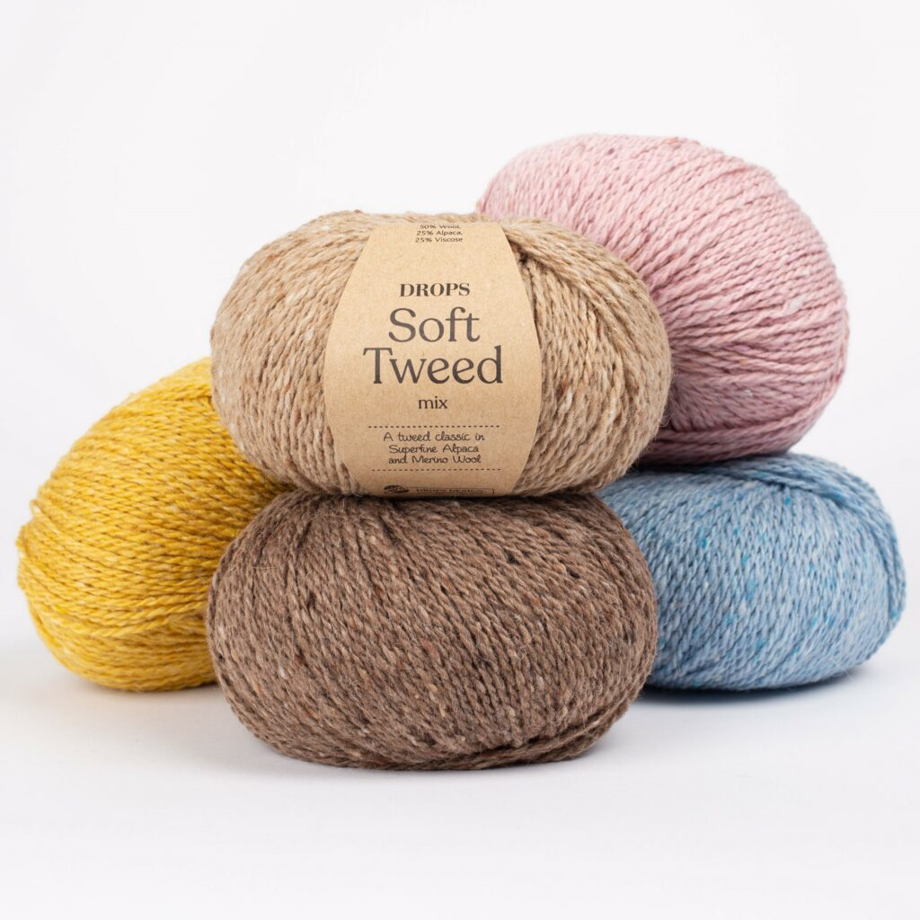Włóczka DROPS Soft Tweed, mieszanka wełny merino