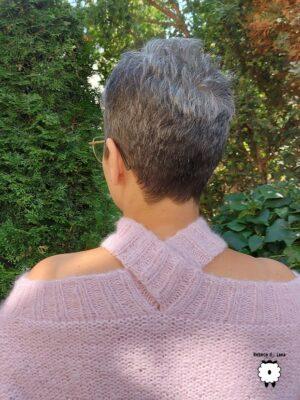 Sweter z odkrytymi ramionami ROMANCE